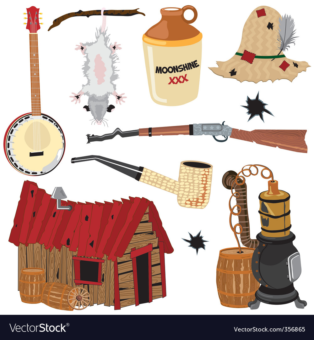 Hillbilly clipart icons vector