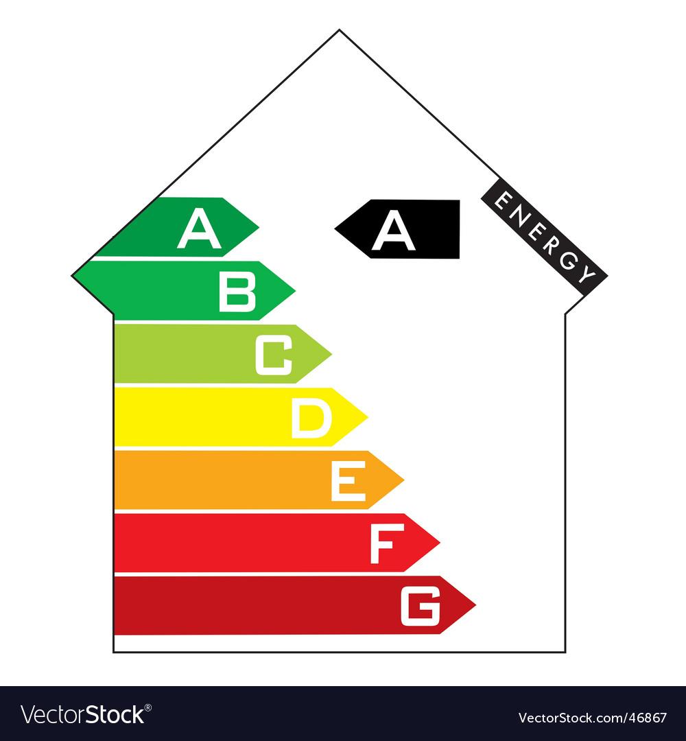 Energy house vector