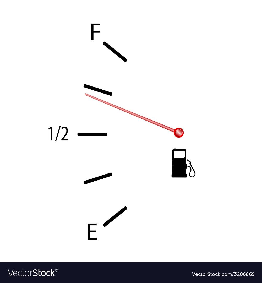 Fuel Gauge Symbol Fuel gauge with symbol vector