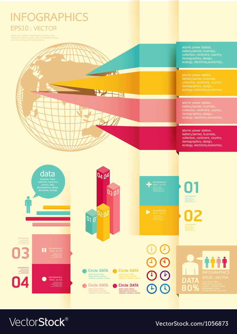 Infographics set and information graphics vector