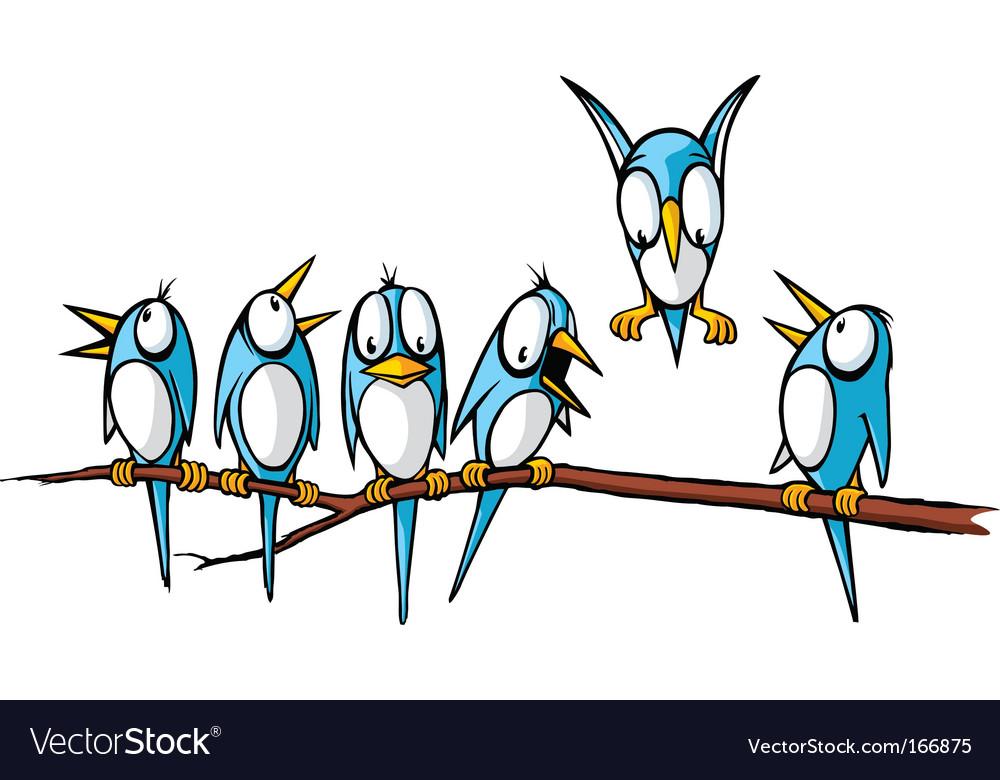 Birds on a branch vector by toonerman image 166875 vectorstock