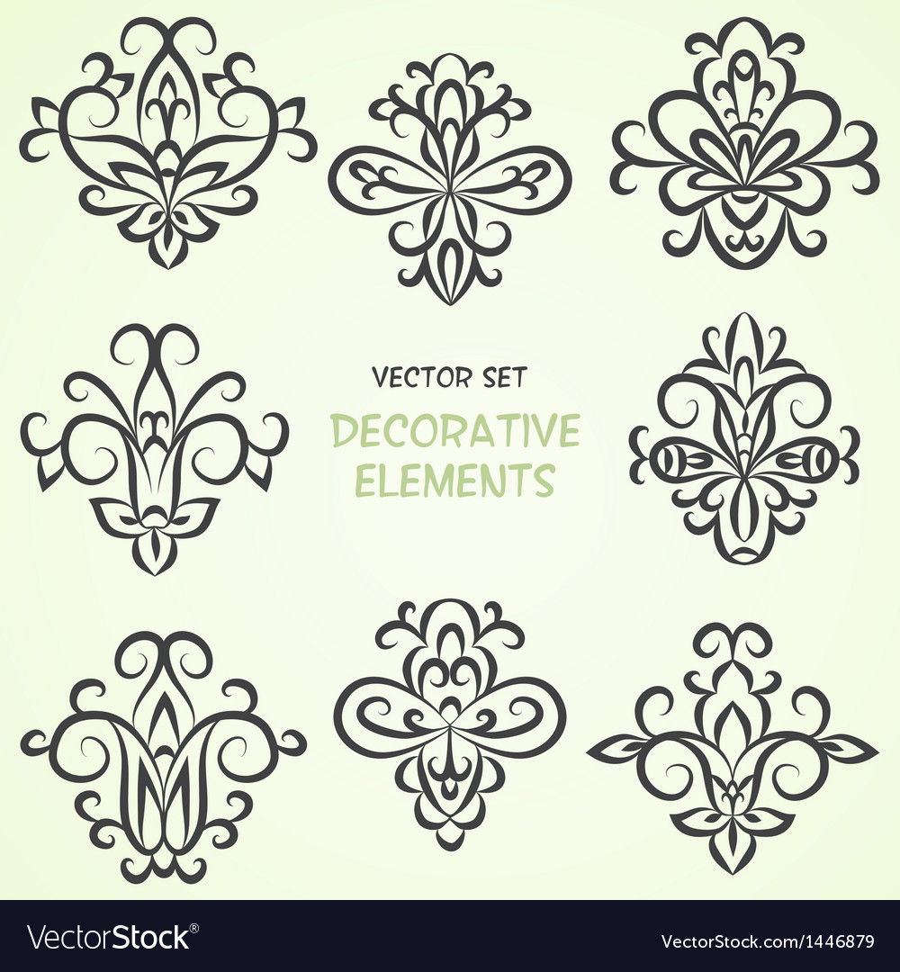 Decorative ethnic elements vector