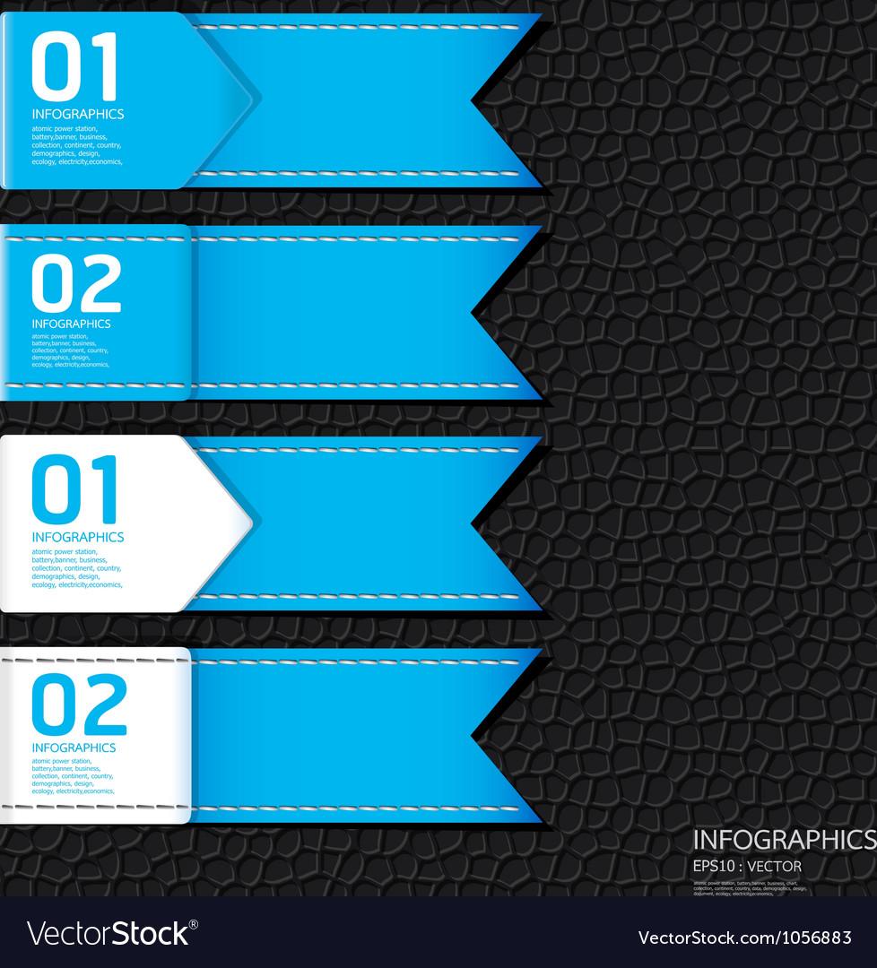 Leather blue color design template vector