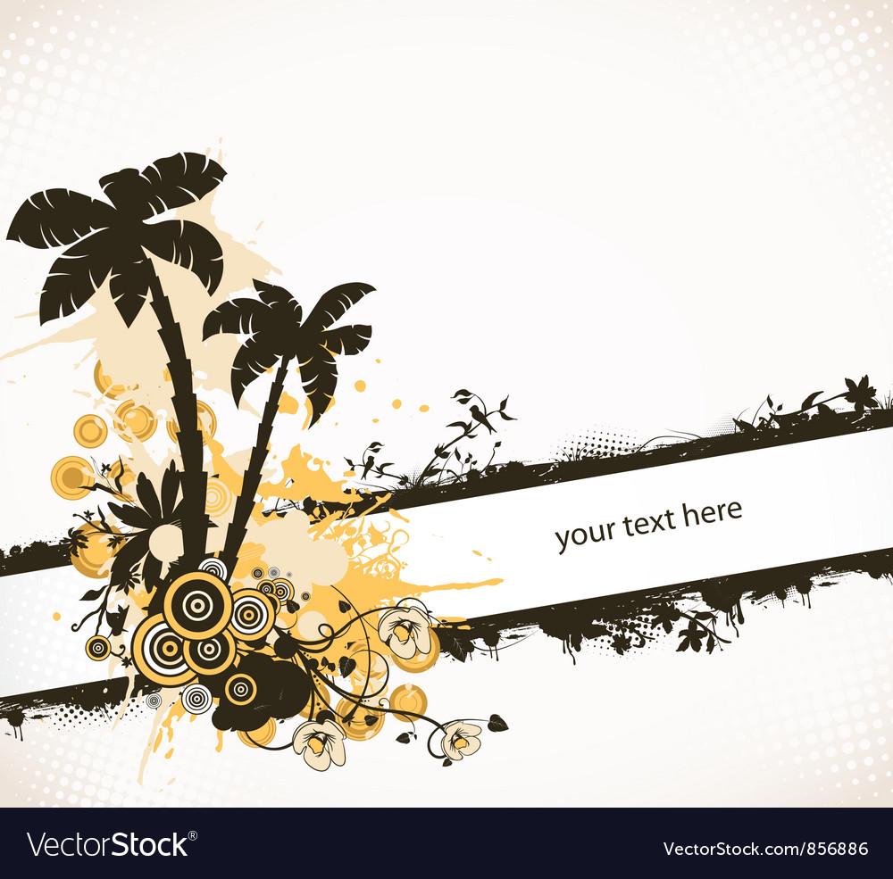 Grunge summer background vector