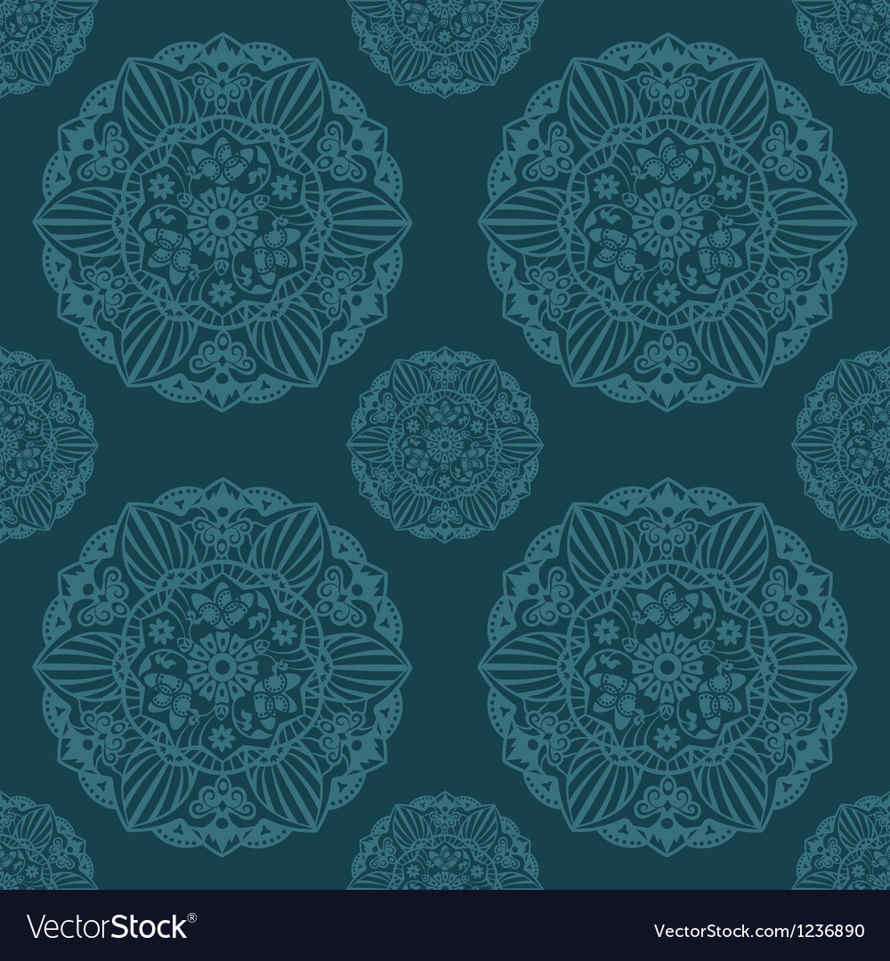 Ornate mandala seamless texture endless pattern vector