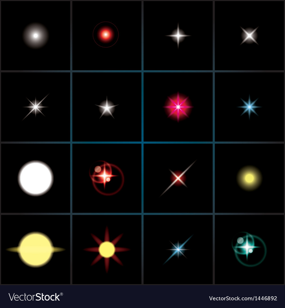 Shining stars vector