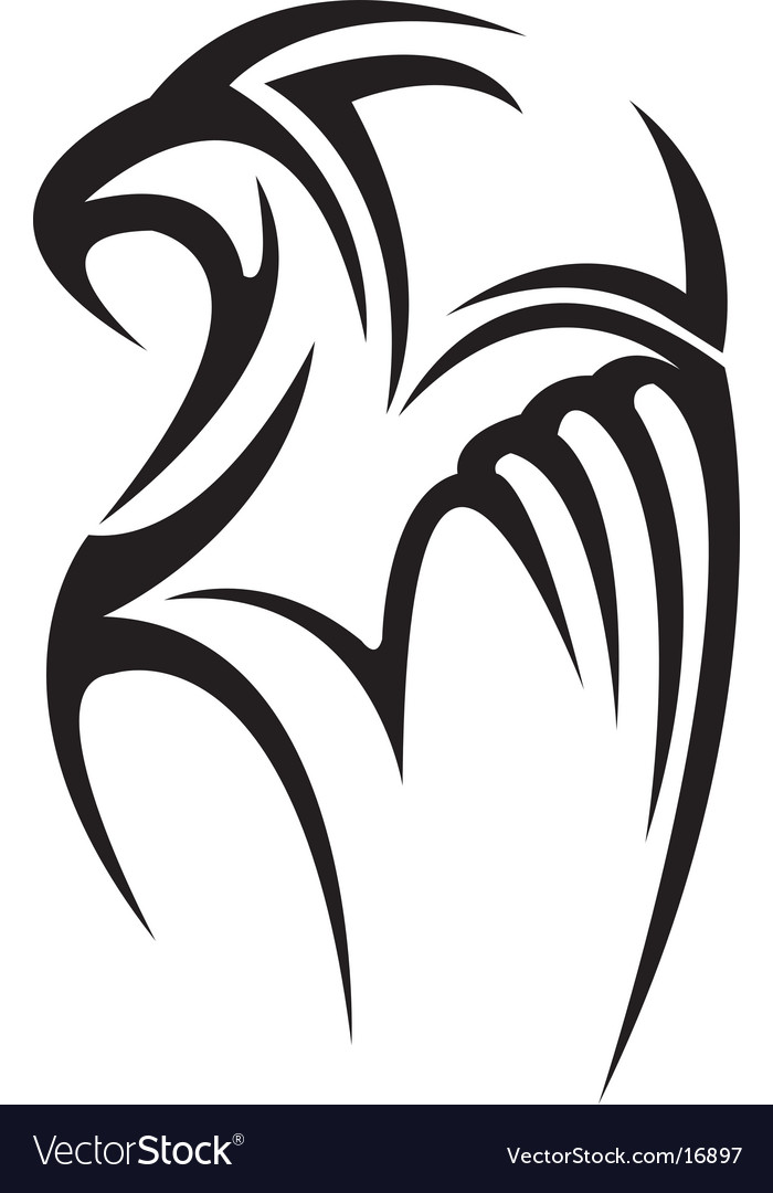 Hawk tattoo vector