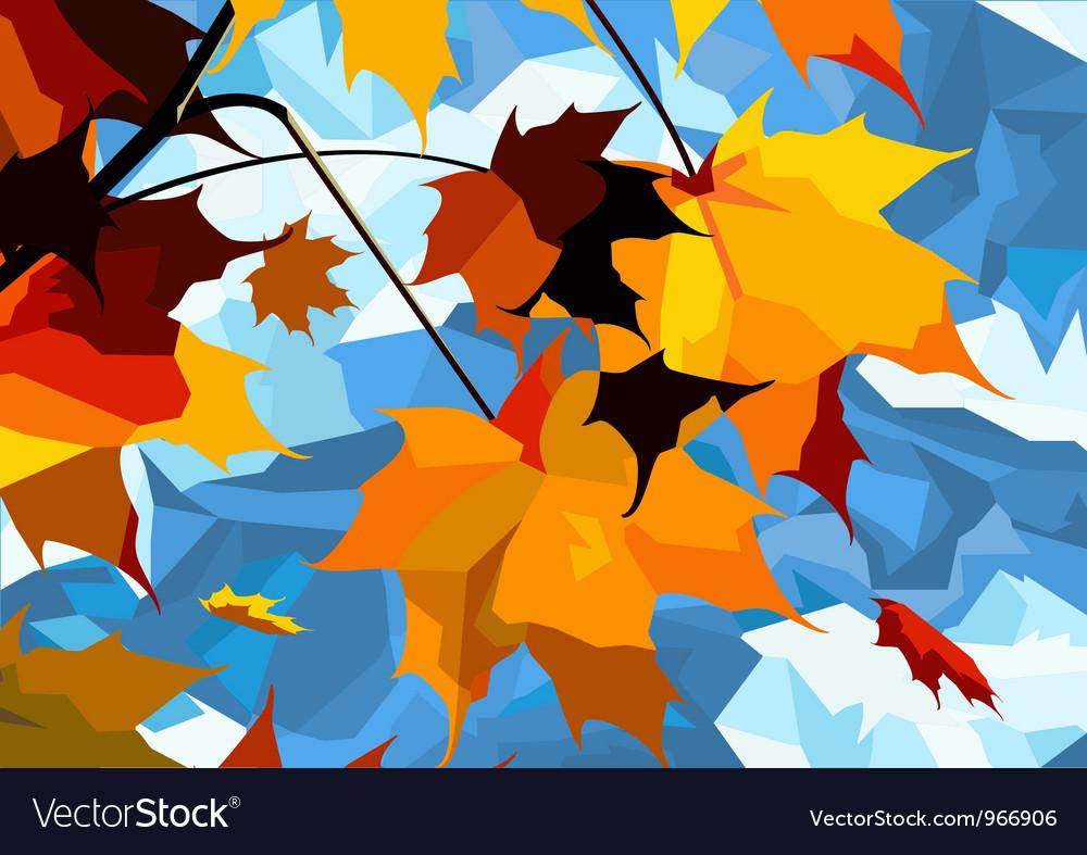 Autumn leaves maple vector