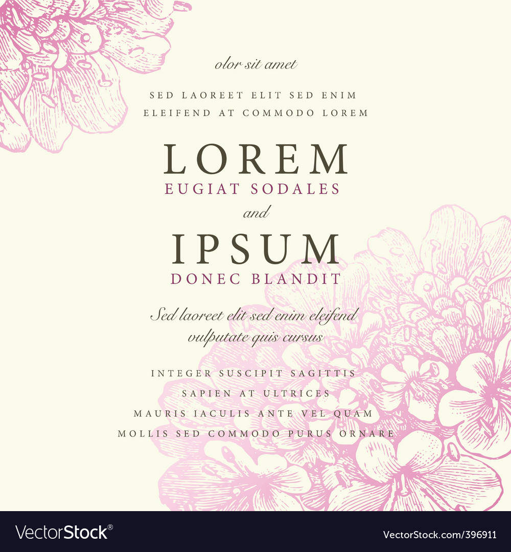 Invitation vector
