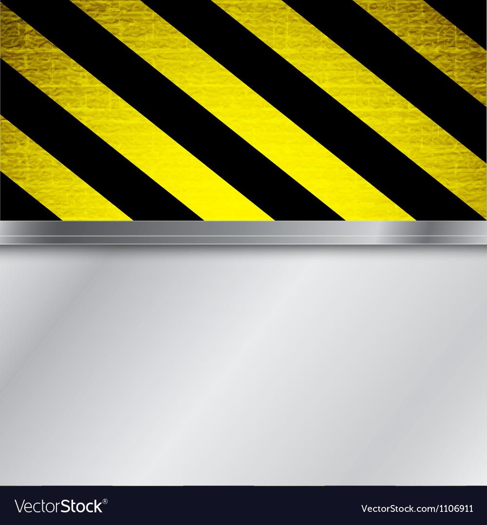 Warning stripe background vector