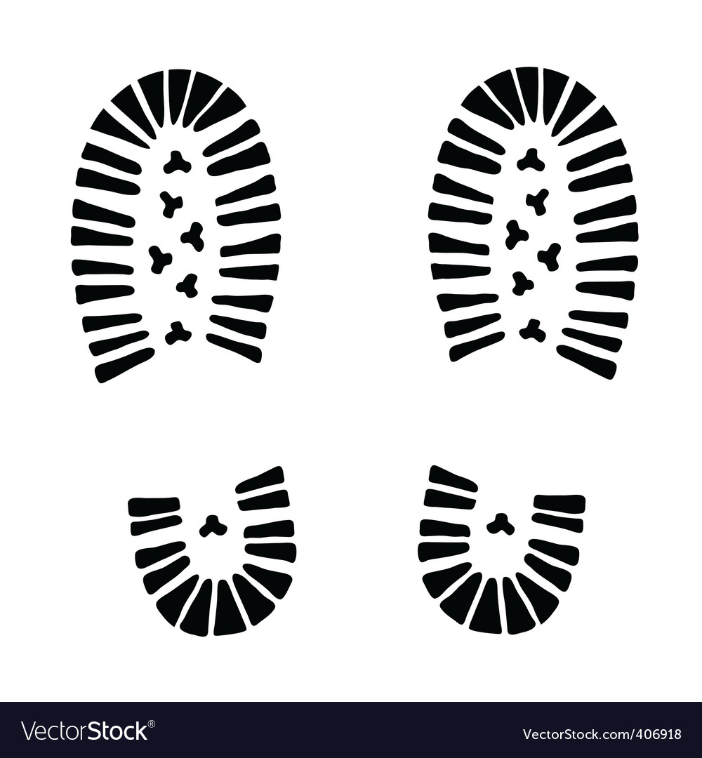Trail foot vector