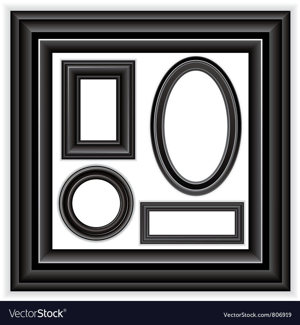 Frames set vector