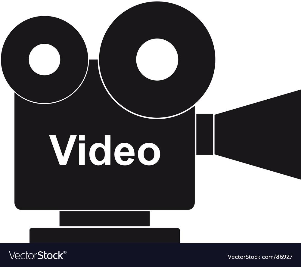Film projector vector