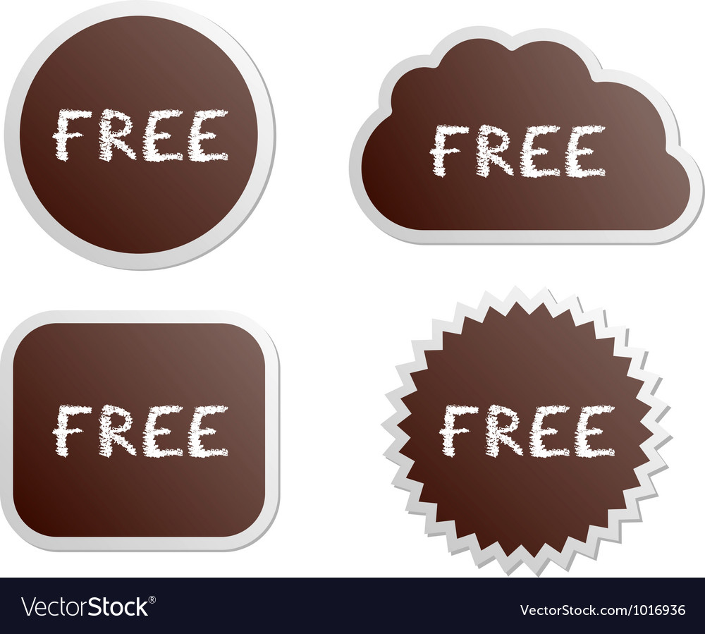 Free buttons vector