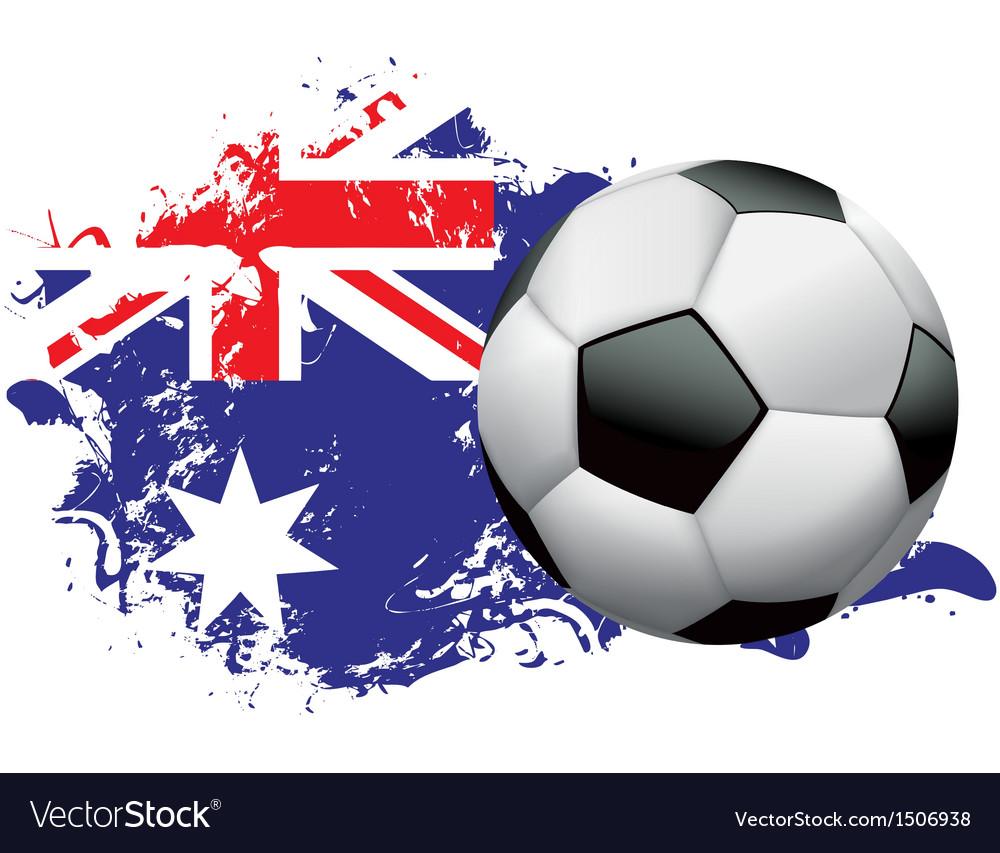 Australia soccer grunge vector