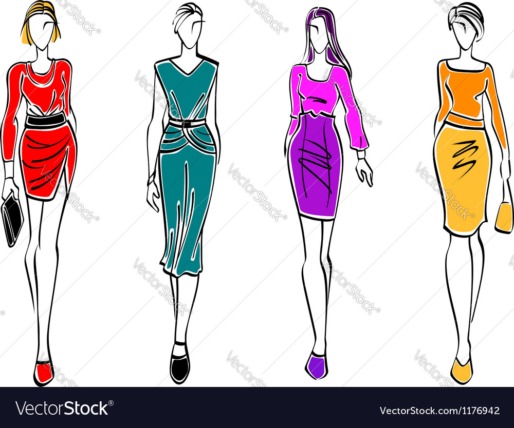 Casual fashion models vector