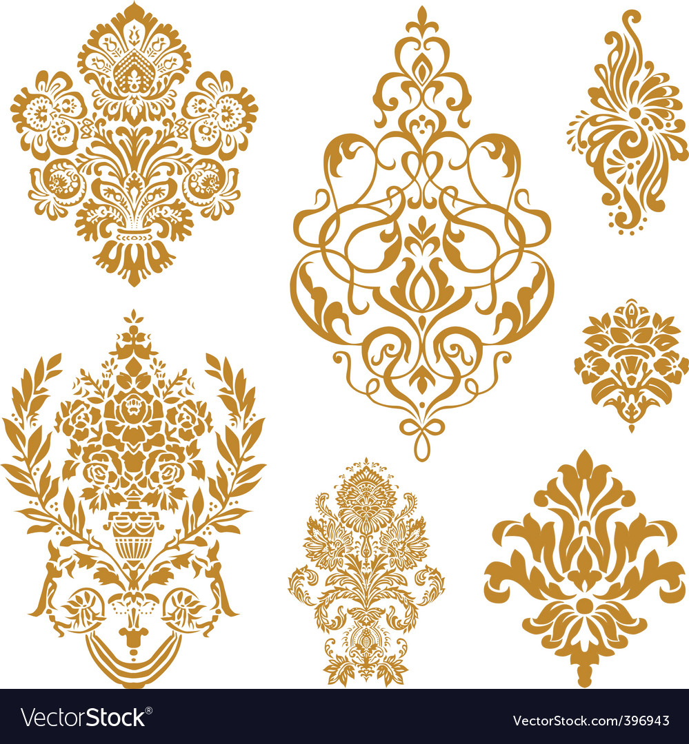 Lush flourishes vector
