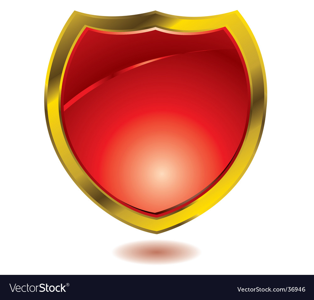 Red shield vector