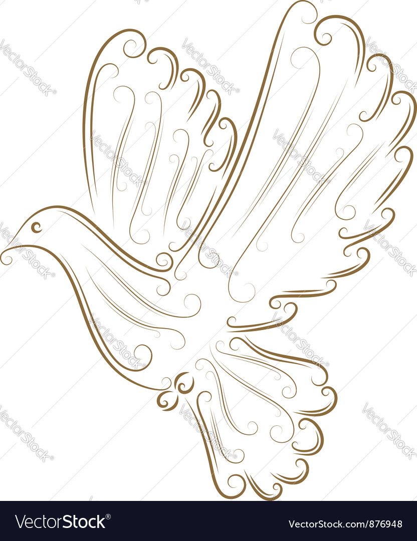 Sketch of pigeon vector