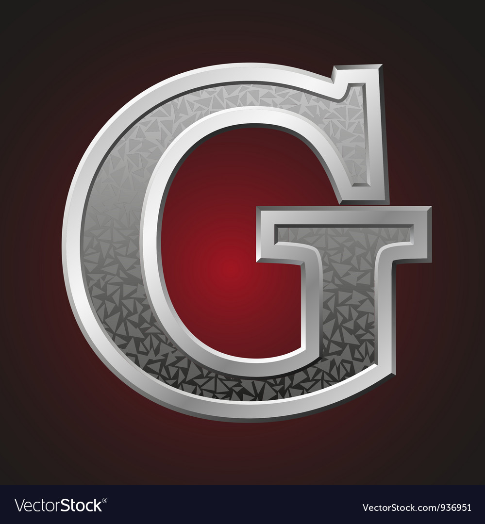 Metal letters g vector