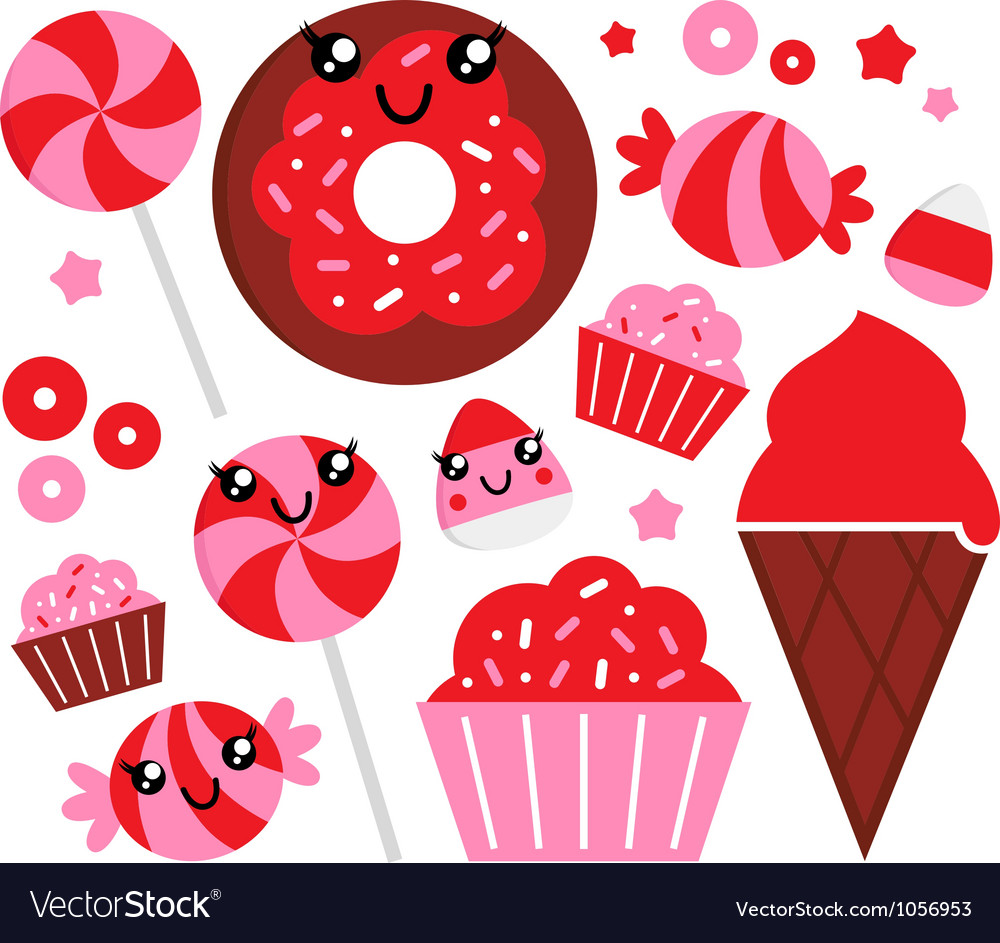 Strawberry candy vector
