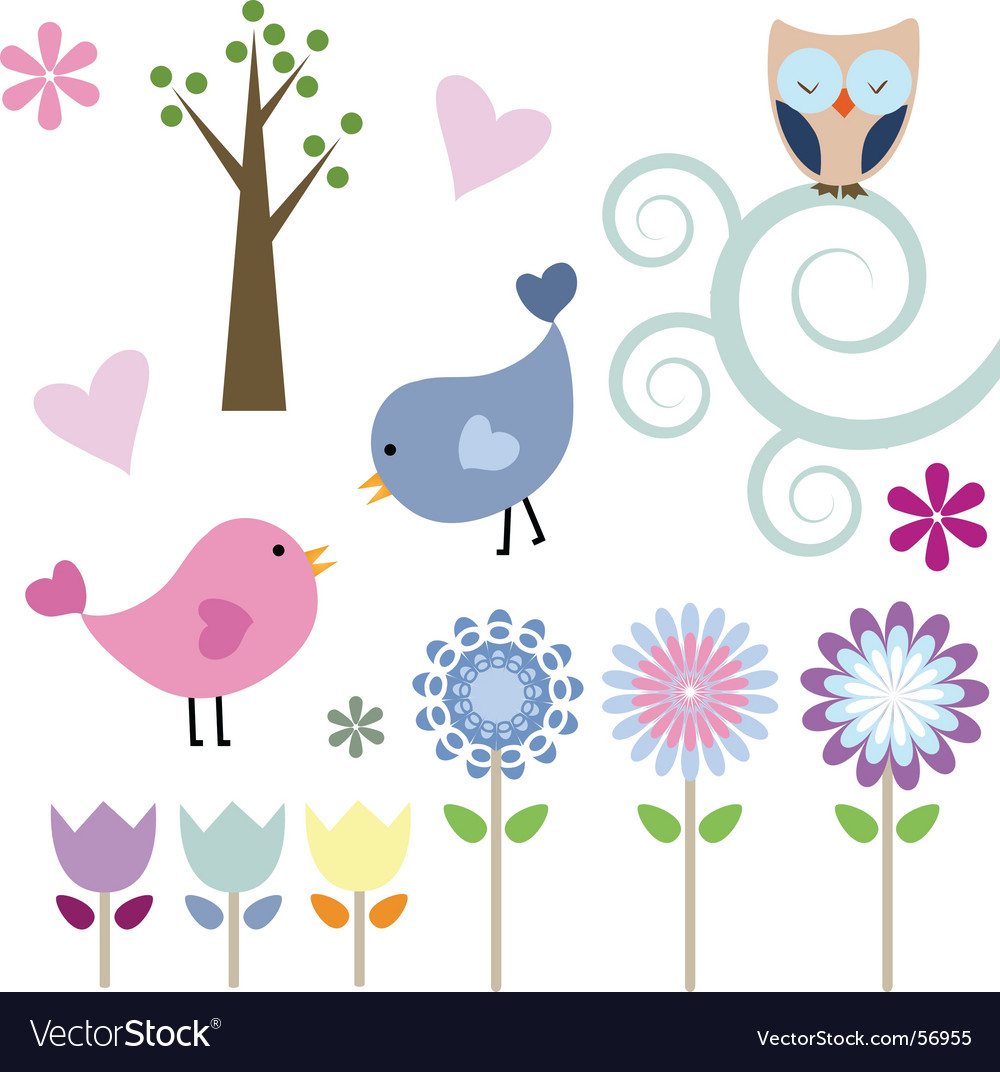 Spring elements vector