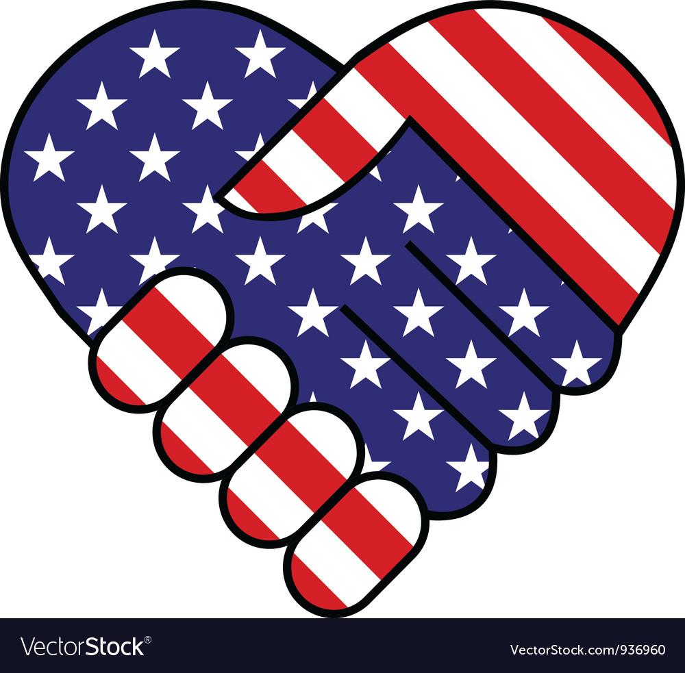 American hand shake vector