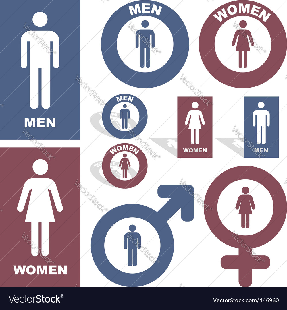 Men and women vector