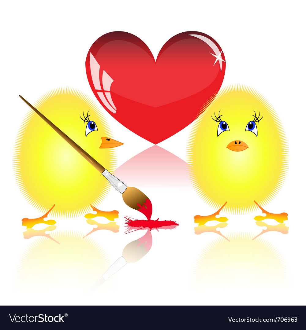 Small fluffy chickens vector