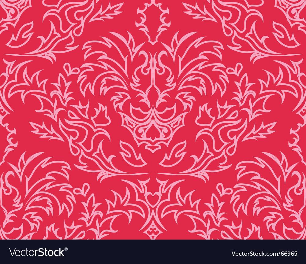 Damask background vector