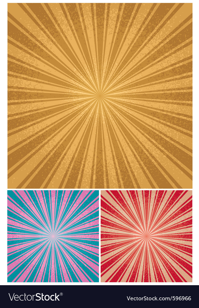 Vintage radial background vector