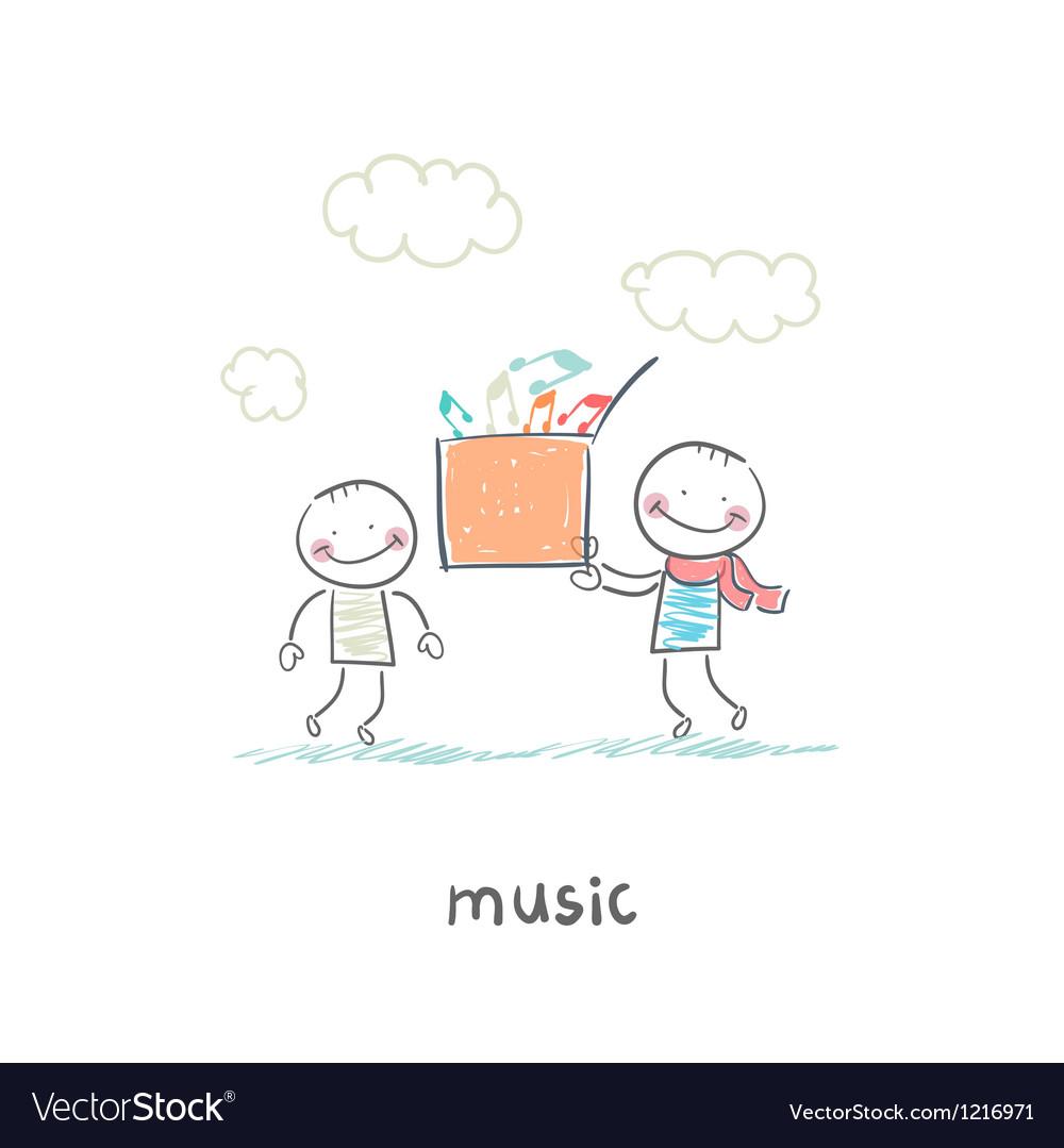 Musical gift vector