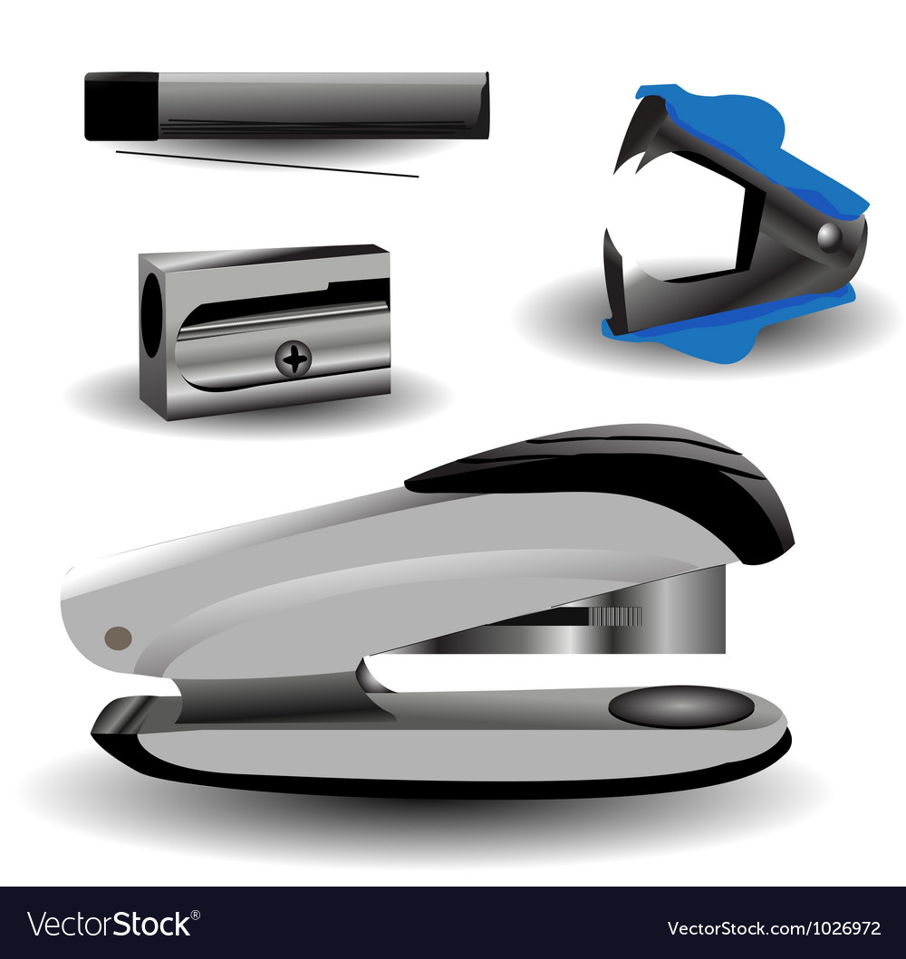 Various stationery vector