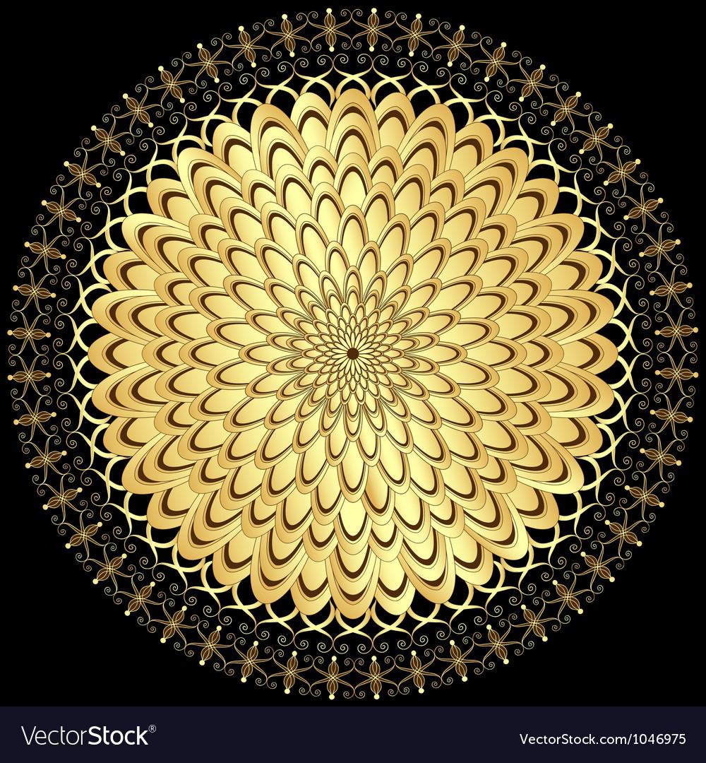 Gold flower vector