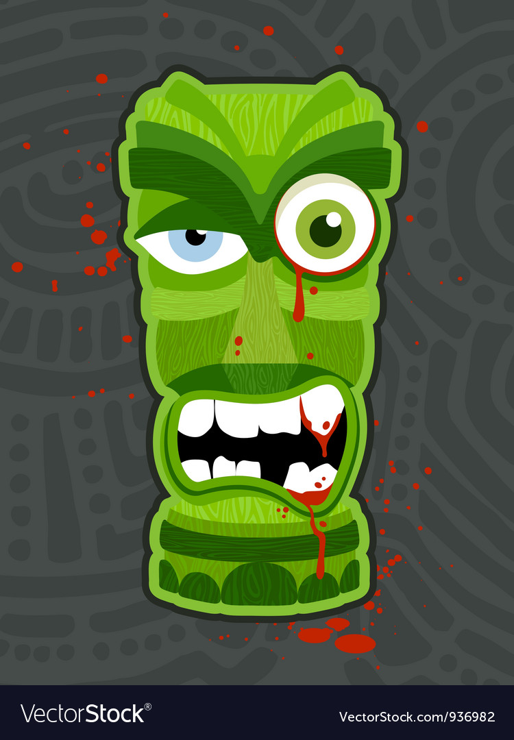 Zombie tiki vector