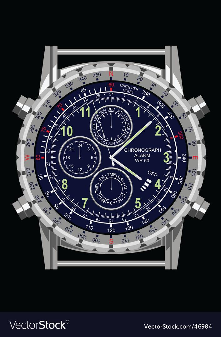 Wrist watch vector