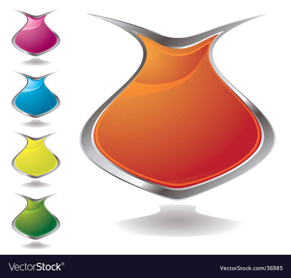 Vase shield vector