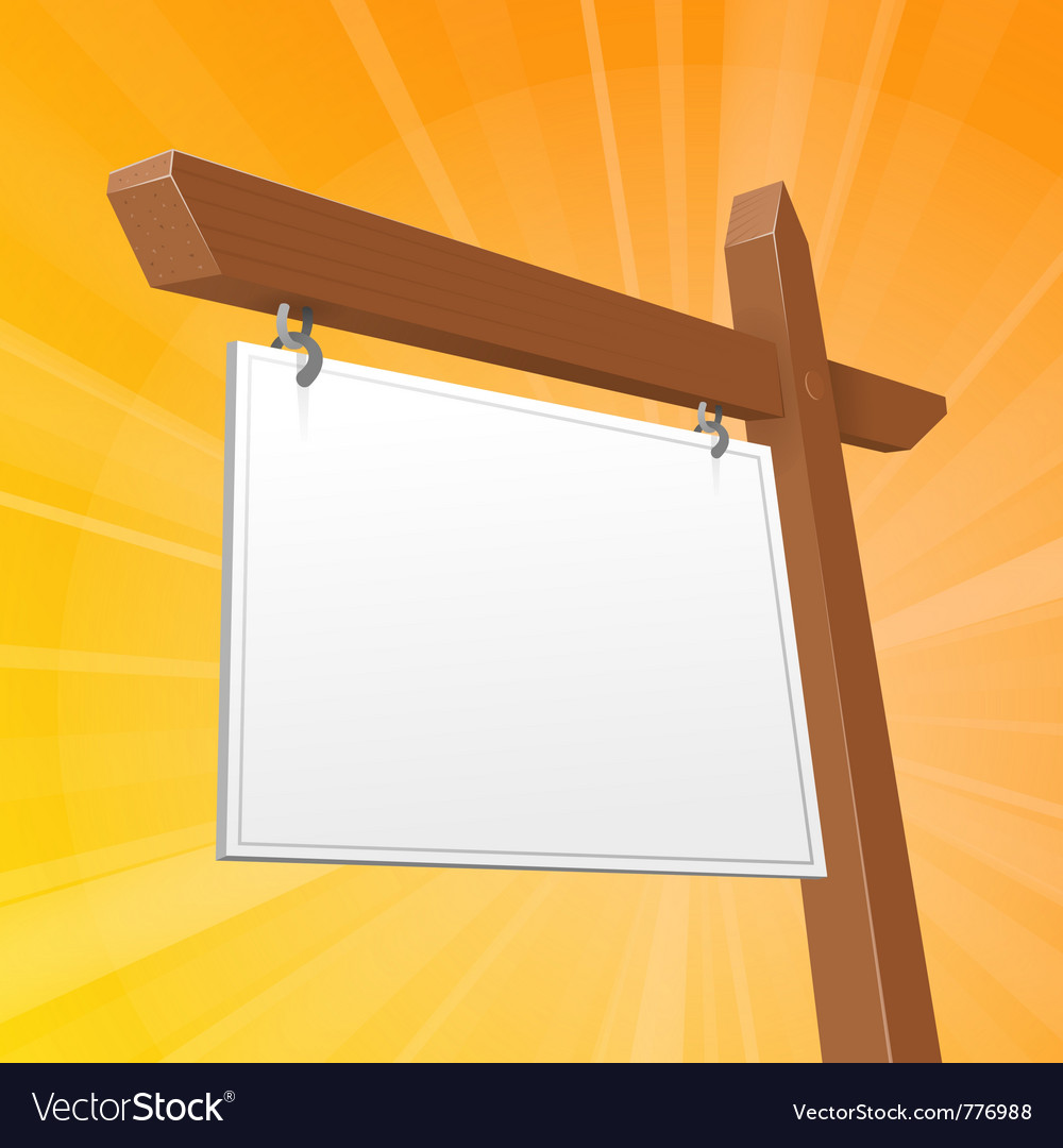 Brown real estate sign vector