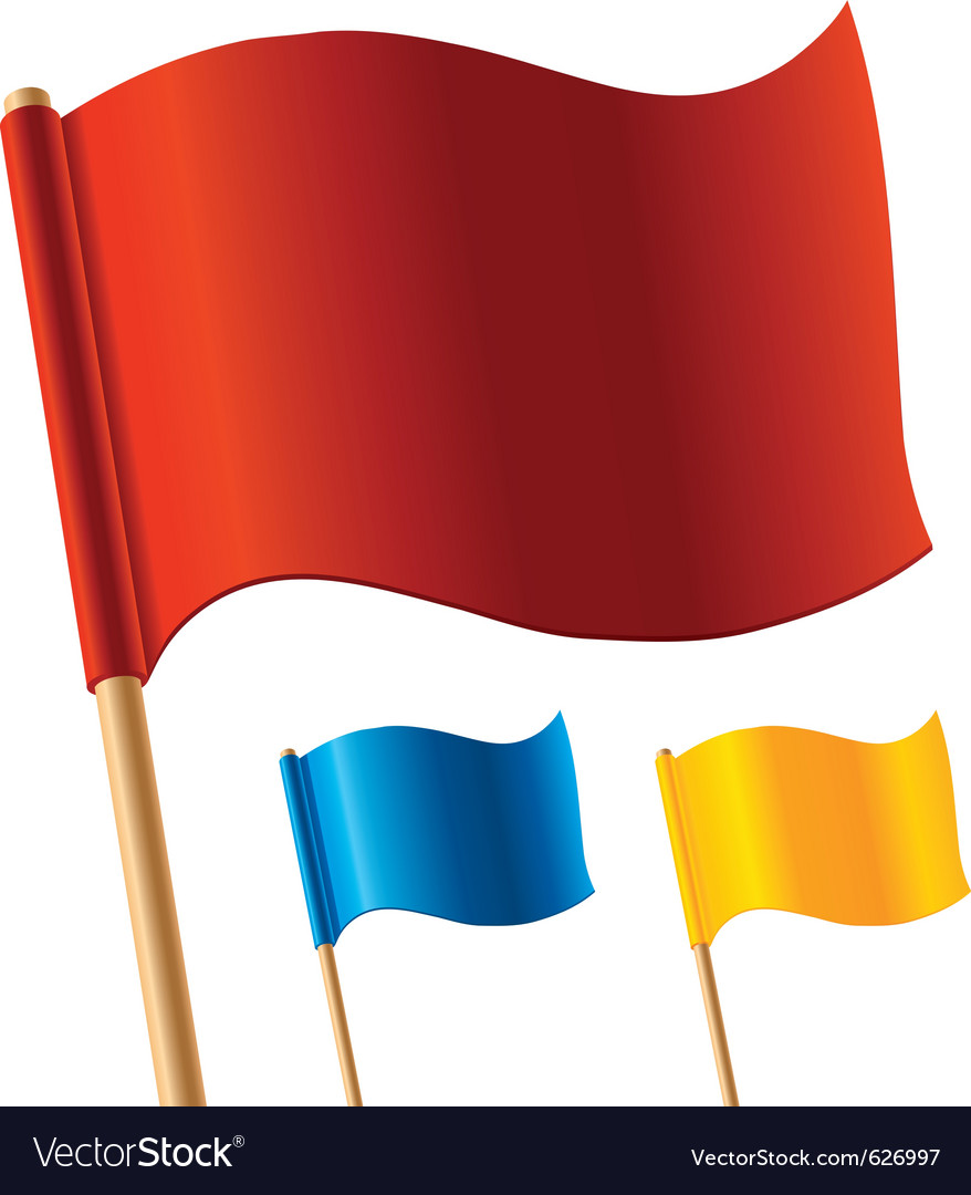 Colorful flags vector