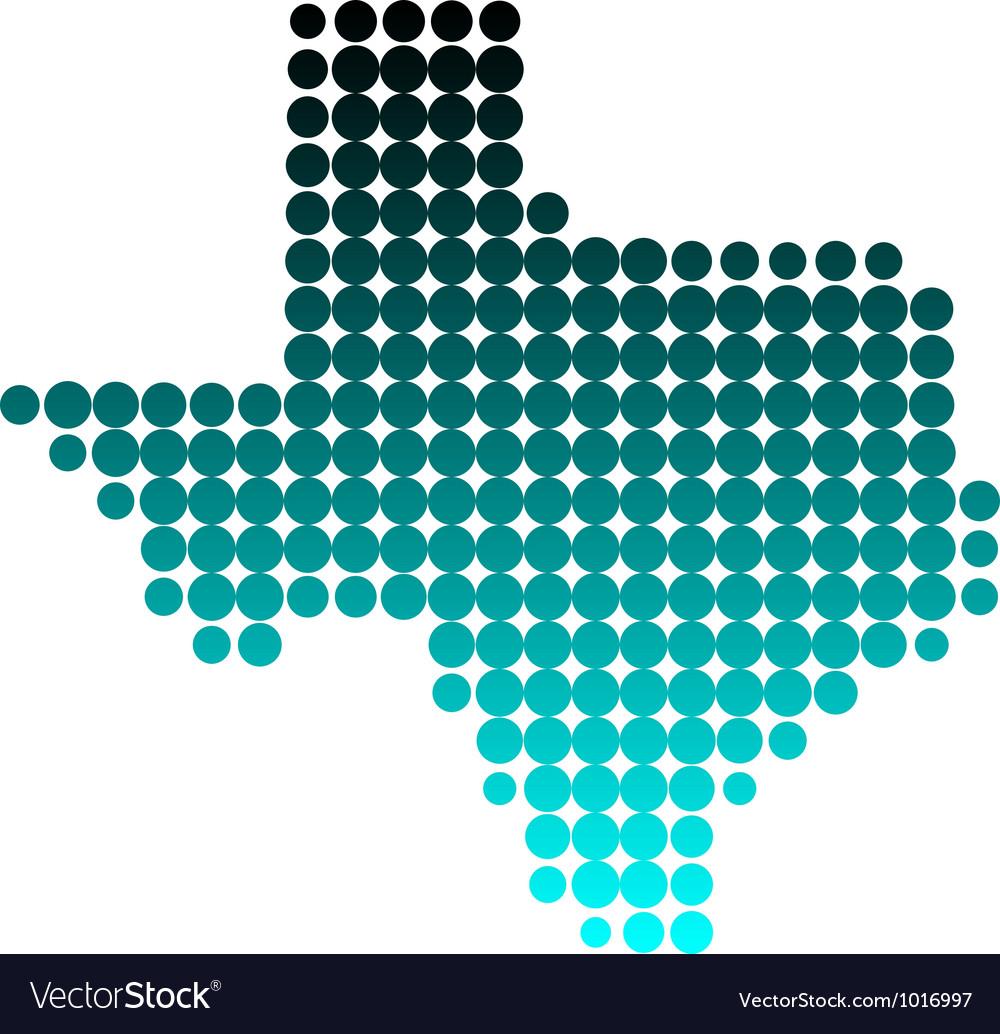 Map of texas vector