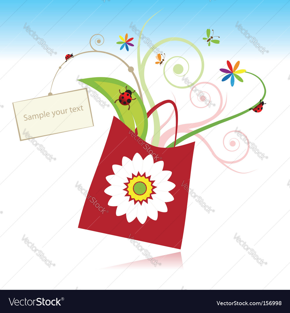 Gift with card  vector