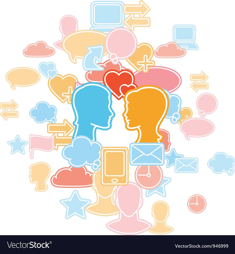 Social media icons pattern vector