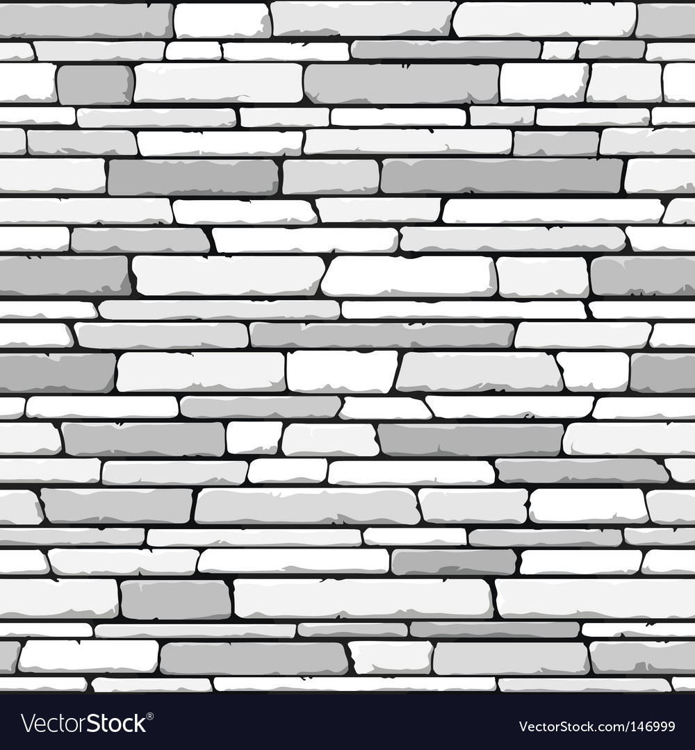 Stone wall pattern vector
