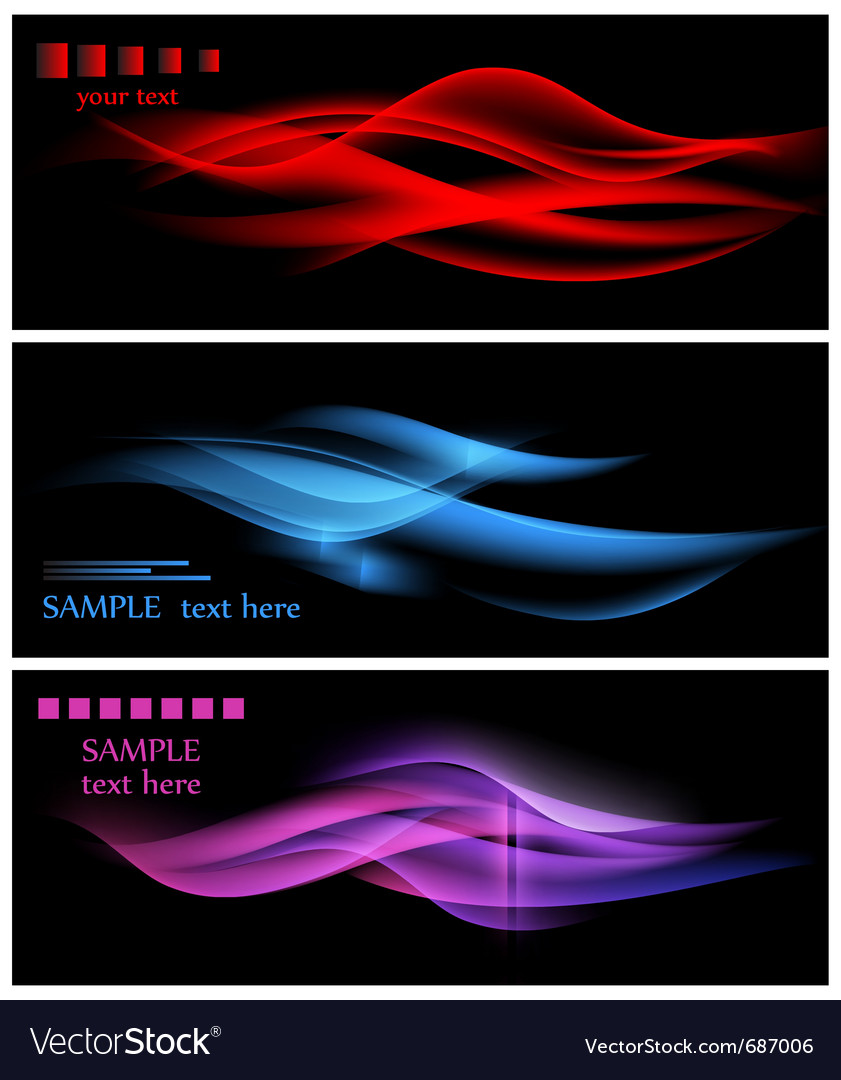 Abstract wavy backgrounds vector