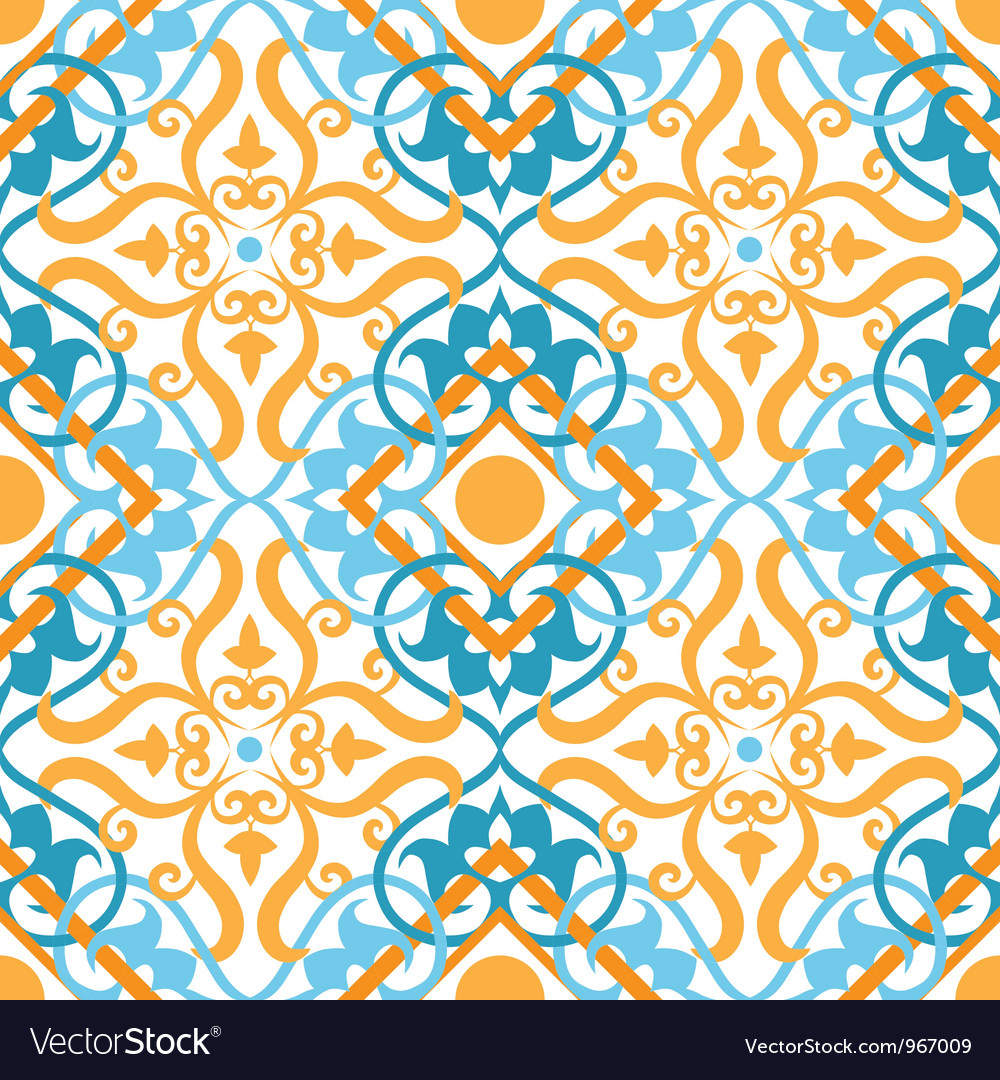 Keltic pattern yellow vector