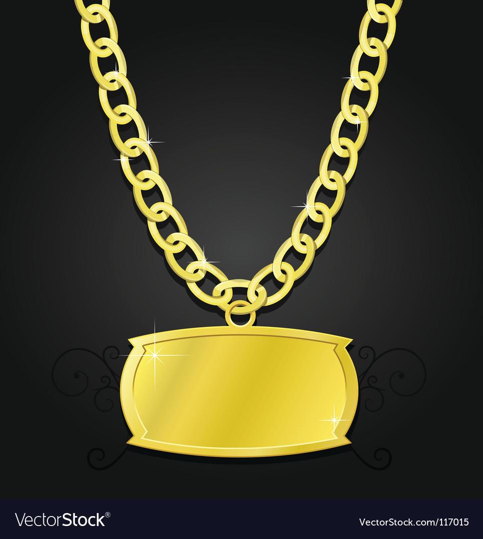 Gold set of jewels vector