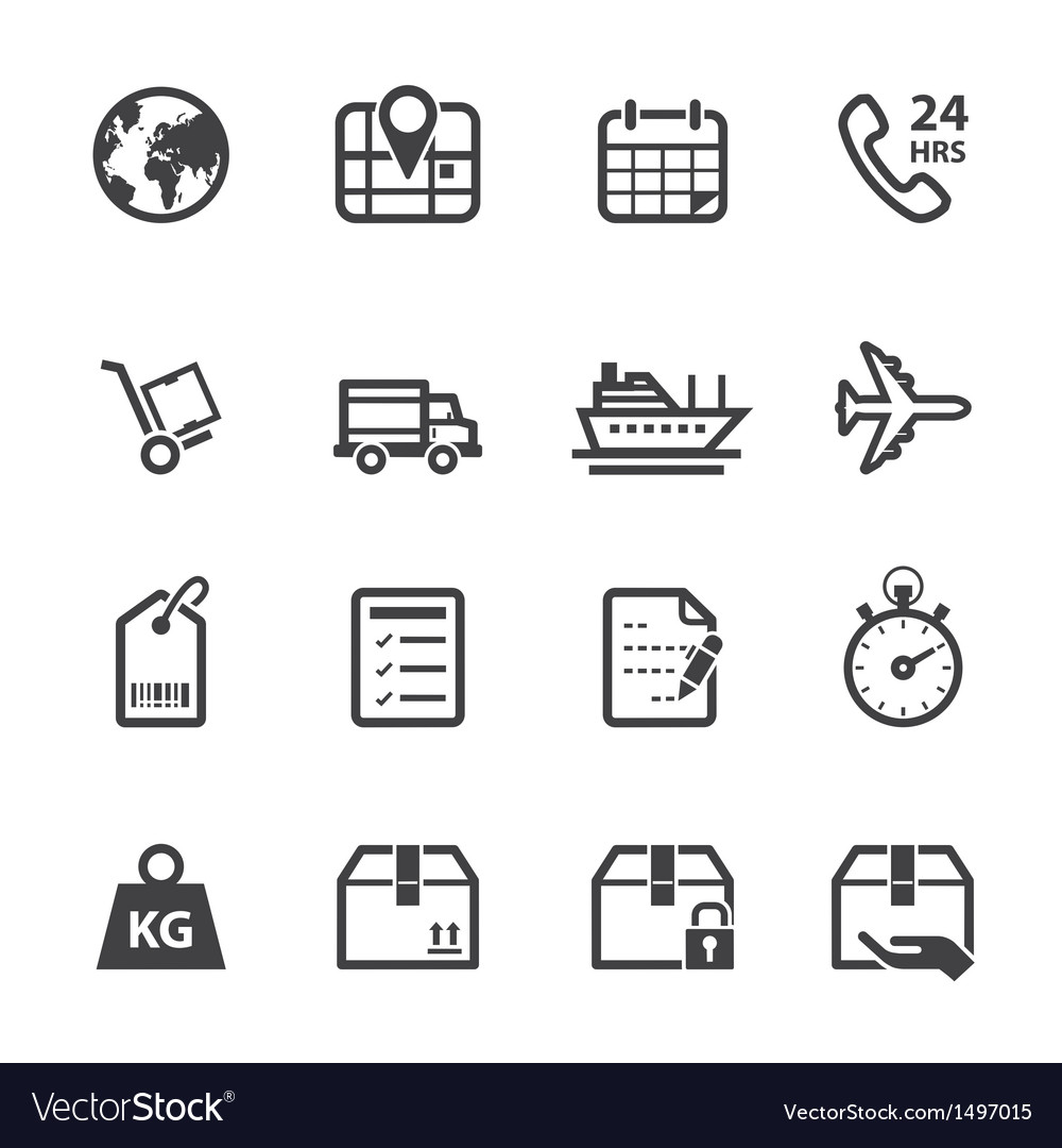 Logistics and shipping icons vector