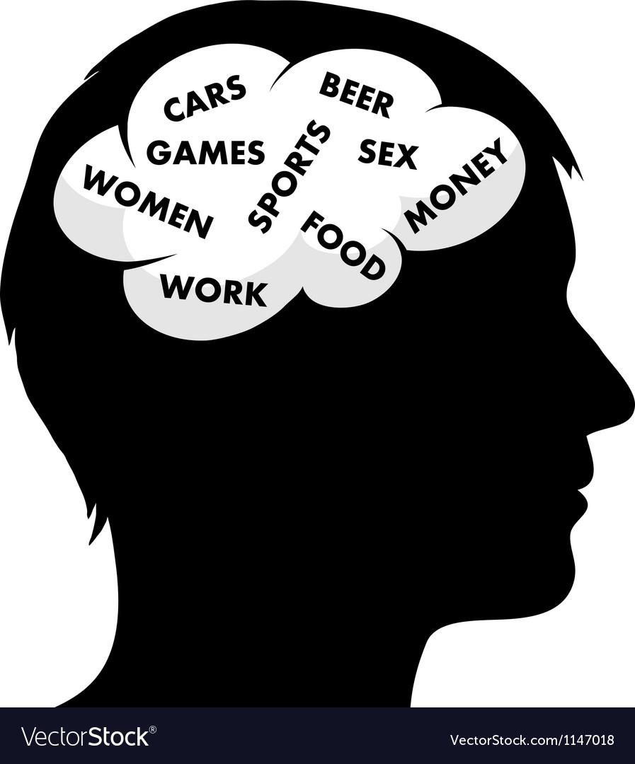 A man s mind vector
