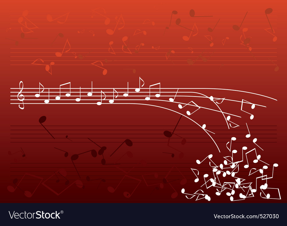 Red notes vector
