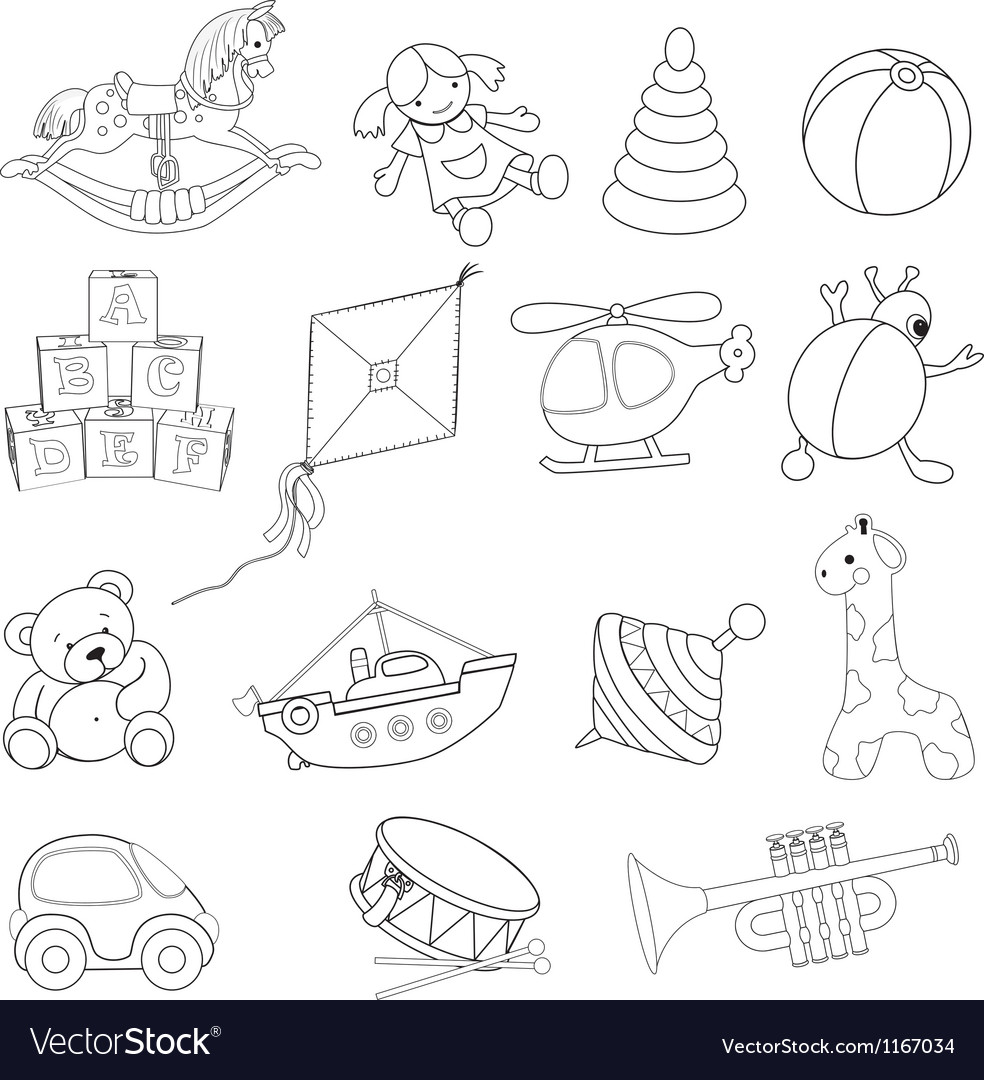 Baby Toys Drawing Baby toys vector